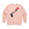 'Through Darkness She Blooms' Peachy Pink Sweatshirt
