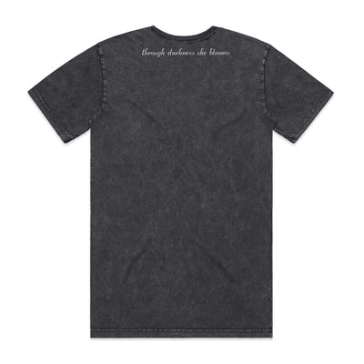 Eskimo Nell | Stonewash T-Shirt Through Darkness She Blooms