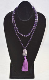 Amethyst Dreams Handmade Mala : Amethyst, and Faceted Amethyst