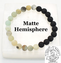 "Load image into Gallery viewer, ""Soothing Diffuser"" - Amazonite and Lava Stone Diffuser Bracelet"