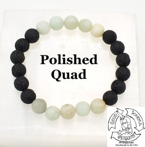 """Soothing Diffuser"" - Amazonite and Lava Stone Diffuser Bracelet"