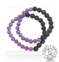 "Load image into Gallery viewer, ""Healing Diffuser"" - Amethyst and Lava Stone Diffuser Bracelet"
