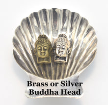 Load image into Gallery viewer, Brass and Silver Buddha Head Guru Beads