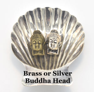 Brass and Silver Buddha Head Guru Beads