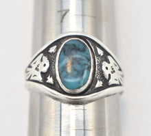 Load image into Gallery viewer, Bell Trading Turquoise and Sterling Silver Thunderbird Ring - Size 7 3/4