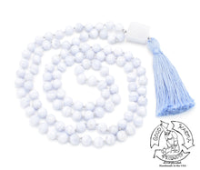 "Load image into Gallery viewer, ""Uplifting Truth""- Blue Lace Agate Handmade 108 Stone Mala"