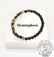 "Load image into Gallery viewer, ""Transitioning Shield"" - Bumblebee Jasper and Onyx Stone Bracelet"