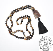 Load image into Gallery viewer, Brown Banded Agate Handmade Mala