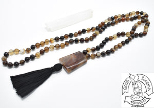 Mala Handmade with Brown Banded Agate