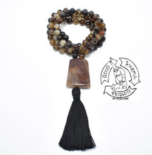 Load image into Gallery viewer, Brown Banded Agate Handmade Mala with 108 Stone Beads