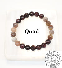 Load image into Gallery viewer, Botswana Agate and Garnet Bracelet