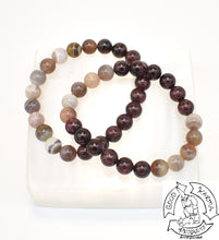 Load image into Gallery viewer, Botswana Agate and Garnet Bracelets