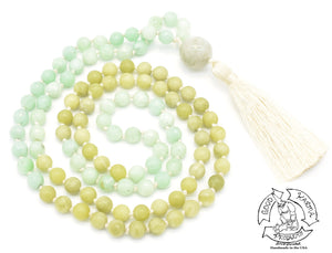 """Jade Fields"" - Burma Jade and Jade Handmade 108 Stone Mala"