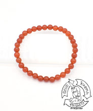 Load image into Gallery viewer, Carnelian 6mm Bead Bracelet