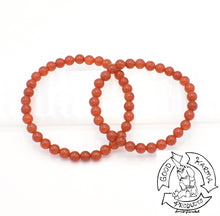 Load image into Gallery viewer, Carnelian 6mm Bead Bracelets