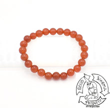 Load image into Gallery viewer, Carnelian 8mm Bead Bracelet