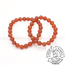 Load image into Gallery viewer, Carnelian 8mm Bead Bracelets