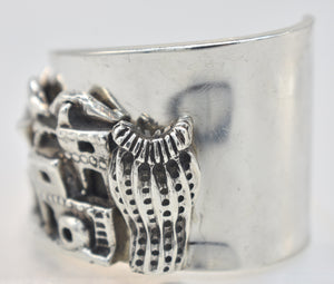 Carol Felley Pueblo Storyteller Sterling Silver Southwestern Cuff and Earrings