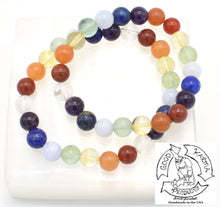 Load image into Gallery viewer, Chakra Rainbow Stone Bracelet