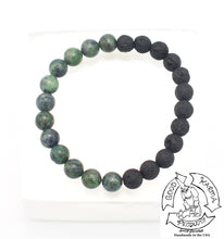 "Load image into Gallery viewer, ""Ataraxying Diffuser""-Chrysocolla and Lava Stone Bracelet"