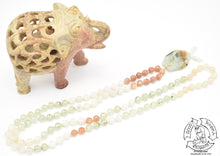 "Load image into Gallery viewer, ""Healing Visions"" - Chrysoprase, Peach Moonstone, Moonstone, and Prehnite Handmade 108 Stone Mala"