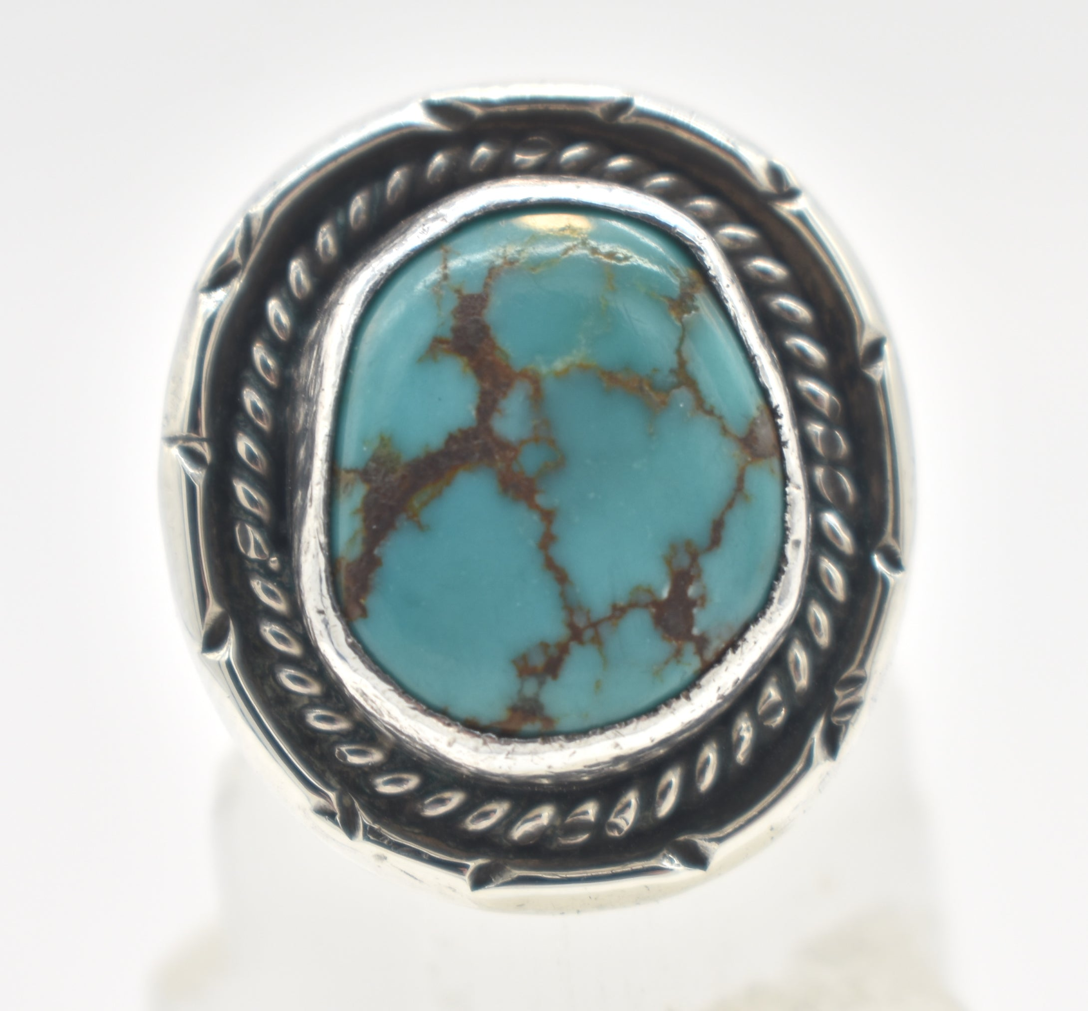 Turquoise and Sterling Silver Signed