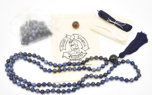 Dark Blue Sodalite Mala Kit Example