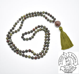 Mala Handmade with Dragon's Blood Jasper