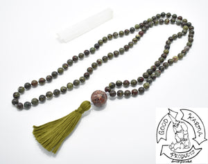 Dragon's Blood Jasper Handmade 108 Stone Bead Mala