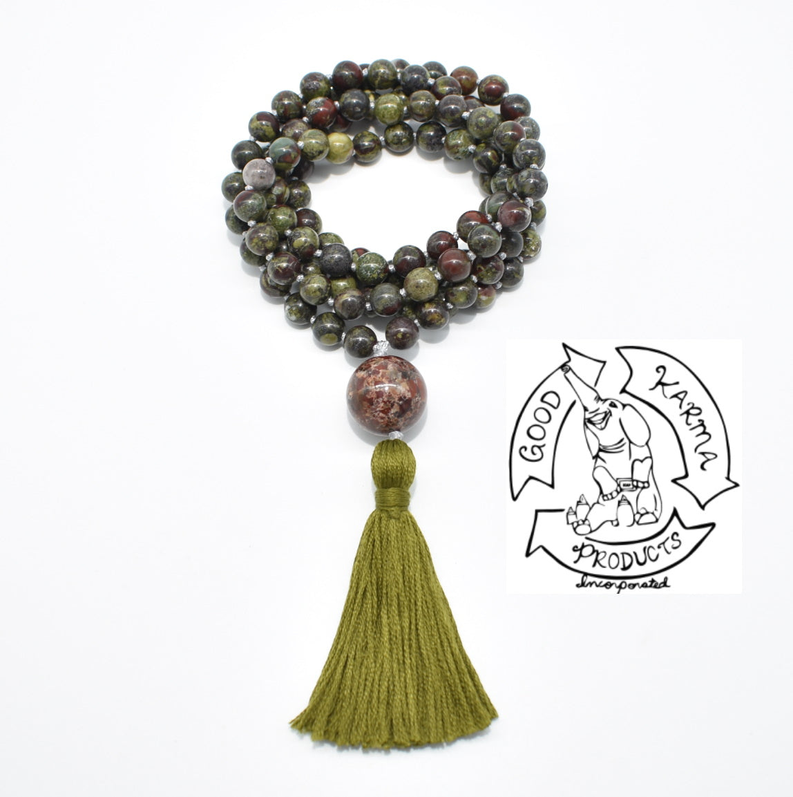 Dragon's Blood Jasper Handmade Mala