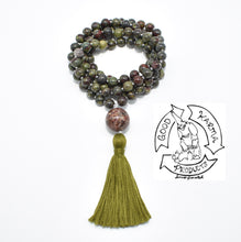 Load image into Gallery viewer, Dragon's Blood Jasper Handmade Mala