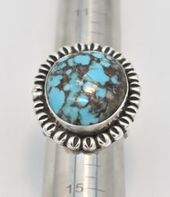 Load image into Gallery viewer, Ernest Wood Navajo Sterling Silver Turquoise Statement Ring - Size 13