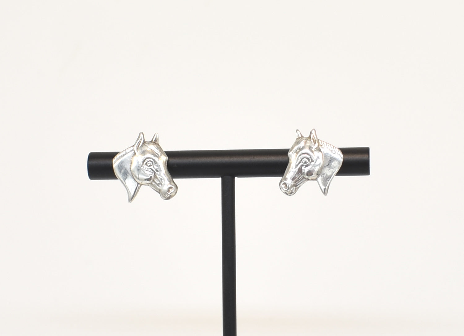 Horse Head Sterling Silver Stud Earrings