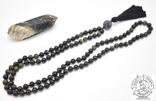 Load image into Gallery viewer, Golden Obsidian Handmade Mala