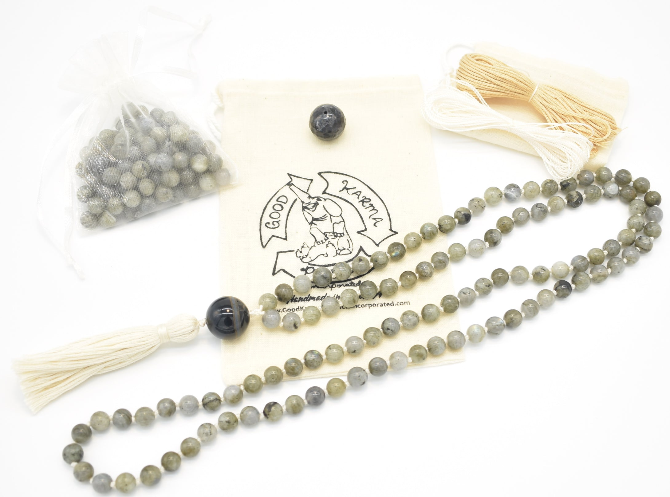 Green Labradorite Mala Kit Example