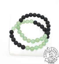 "Load image into Gallery viewer, ""Prosperity Diffuser"" - Green Aventurine and Lava Stone Bracelet"