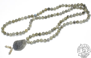 Green Labradorite Mala Handmade in the USa
