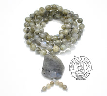Load image into Gallery viewer, Mala handmade with Green Labradorite