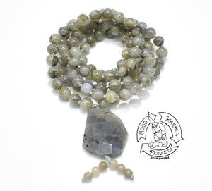 Mala handmade with Green Labradorite