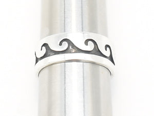 Hopi Wave Sterling Silver Band - Size 9.25