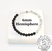 "Load image into Gallery viewer, ""Calming Shield"" - Howlite and Onyx Stone Bracelet"