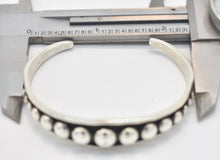 Load image into Gallery viewer, Johnathan Nez Navajo Native American Sterling Silver Cuff Bracelet