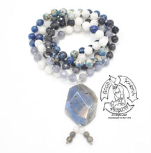 Load image into Gallery viewer, Himalayan Lights - Kyanite, K2, Tanzanite, Iolite, Labradorite & Moonstone Handmade 108 Stone Mala