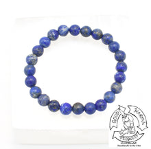 "Load image into Gallery viewer, ""Visualizing"" - Lapis Lazuli Stone Bracelet"