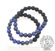 "Load image into Gallery viewer, ""Visualizing Diffuser"" - Lapis Lazuli and Lava Stone Diffuser Bracelet"