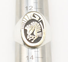 Load image into Gallery viewer, Leah Cleveland 14k Gold and Sterling Silver Native American Eagle Ring - Size 13