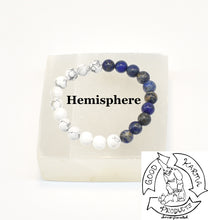 "Load image into Gallery viewer, ""Visualizing Calm"" - Lapis Lazuli and Howlite Stone Bracelet."