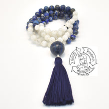 "Load image into Gallery viewer, ""Healing Visions"" - Moonstone and Lapis Lazuli 108 Stone Mala"