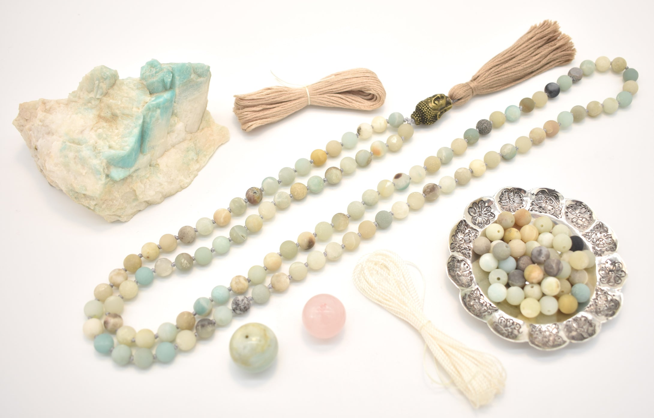 Matte Amazonite Mala Kit Example