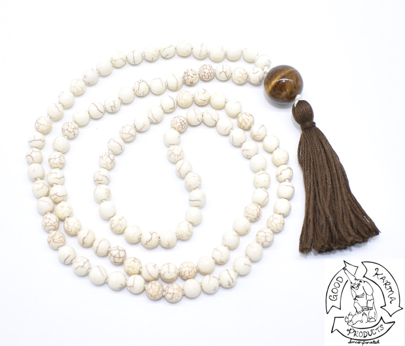 Magnesite Mala Handmade in the USA